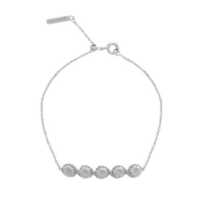 Ladies Olivia Burton Silver Plated Flower Show Rope Chain Bracelet loving the sales