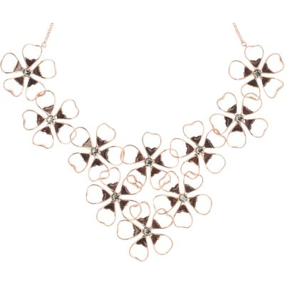 Ladies Ted Baker Gold Plated Linndy Enamel Flower Cluster Necklace loving the sales