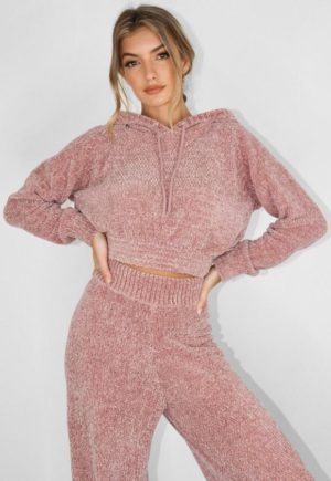 Lilac Chenille Cropped Hoodie loving the sales