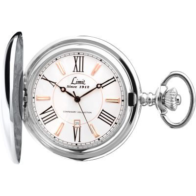 Limit Silver Coloured Full Hunter Pocket Watch loving the sales