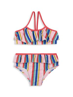 Little Girl's & Girl's 2-Piece Striped Ruffle Bikini Set loving the sales