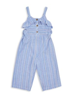 Little Girl's Striped Tie Jumpsuit loving the sales