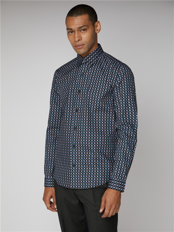 Long Sleeved Retro Print Green Shirt | Ben Sherman | Est 1963 - Xs loving the sales