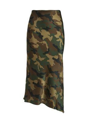 Maeve Asymetrical Camo Slip Skirt loving the sales