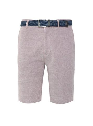 Mens Burton Dark Pink Belted Pique Shorts