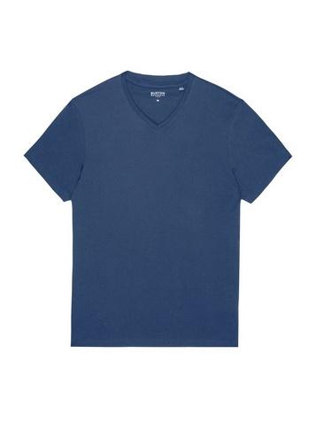 Mens Burton Denim Blue Marl V-Neck T-Shirt