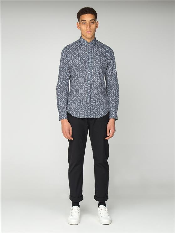 Men's Foulard Geometric Print Shirt | Ben Sherman | Est 1963 - Medium loving the sales