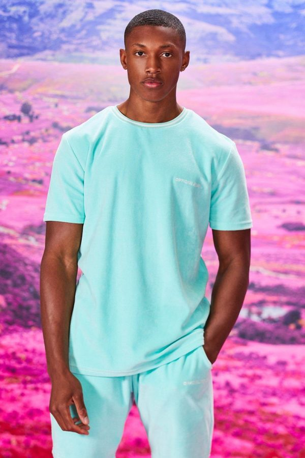 Mens Green Official Man Velour T-Shirt & Short Set loving the sales