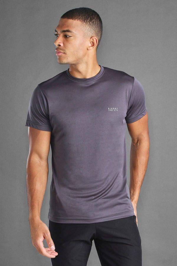 Mens Grey Man Active Poly T-Shirt loving the sales