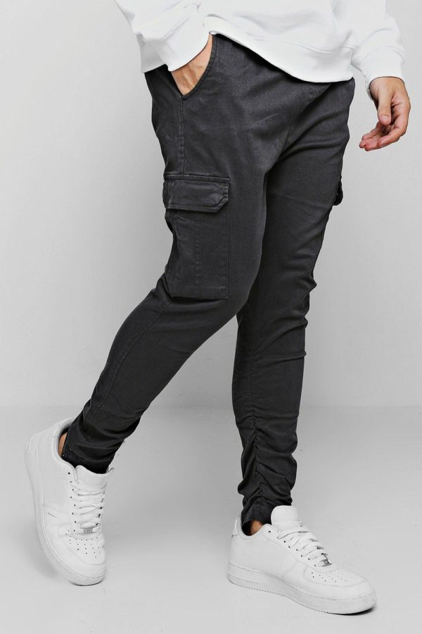 Mens Grey Tapered Fit Cargo Trouser loving the sales