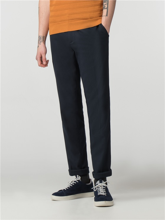 Mens Navy Elastic Waistband Trousers   Ben Sherman   Est 1963 - 28l loving the sales