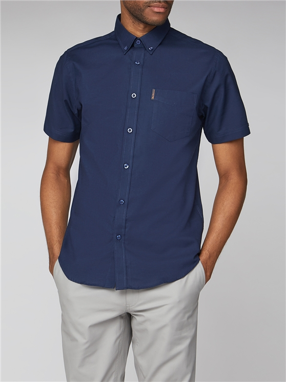 Men's Navy Short Sleeved Oxford Shirt | Ben Sherman | Est 1963 - Xxl loving the sales