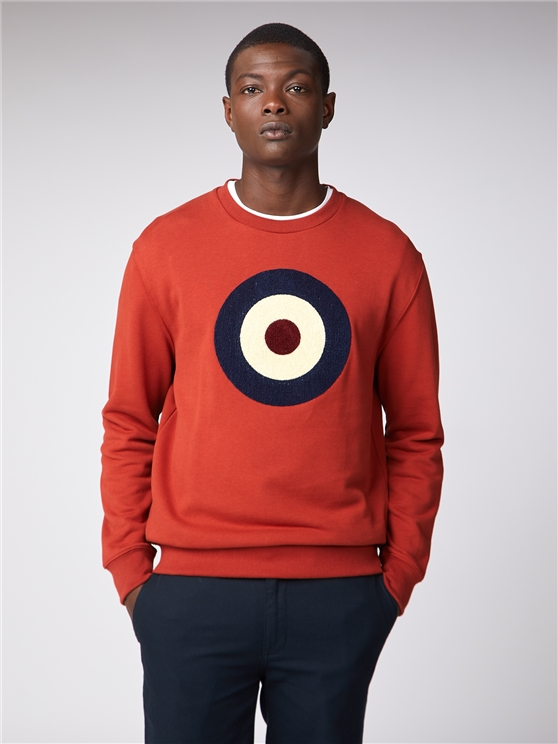 Mens Orange Target Sweatshirt | Mod Jumper | Ben Sherman Est 196 - Large loving the sales