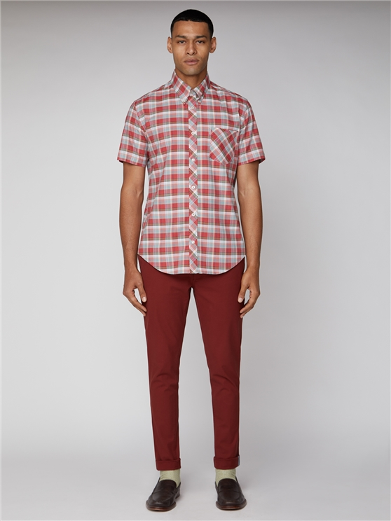 Men's Peach Ombre Checked Shirt | Ben Sherman | Est 1963 loving the sales