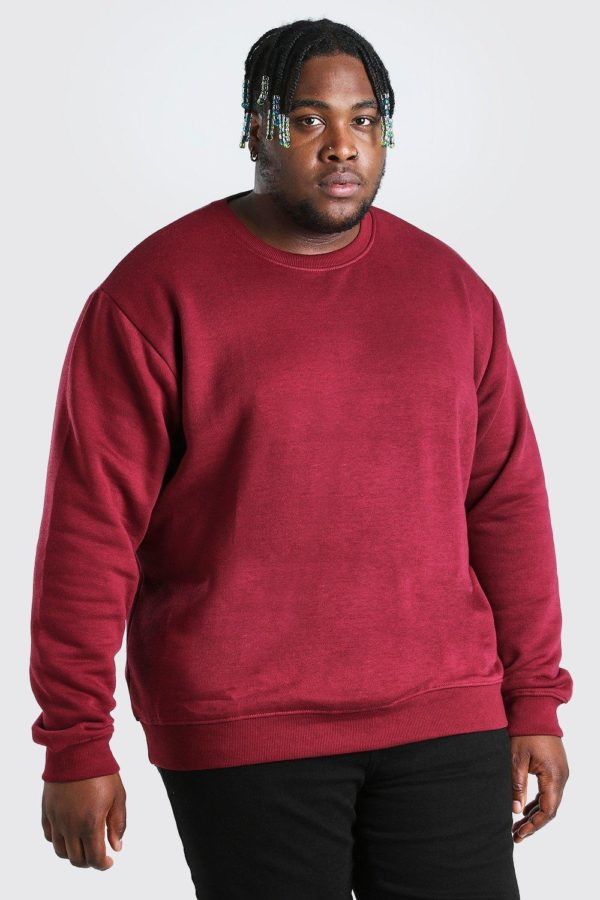 Mens Red Plus Size Basic Jumper loving the sales