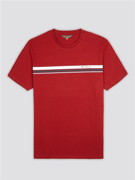 Men's Red Sport Striped T-Shirt | Ben Sherman | Est 1963 - Xs loving the sales