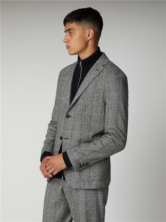 Men's Salt & Pepper Wool Blend Blazer | Ben Sherman | Est 1963 - 42r loving the sales
