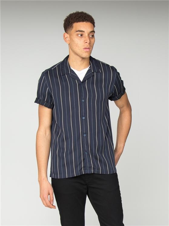 Men's Satin Striped Revere Shirt | Ben Sherman | Est 1963 - Xs loving the sales