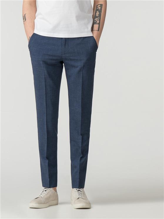Men's Summer Blue Fleck Skinny Trousers | Ben Sherman | Est 1963 - 34r loving the sales