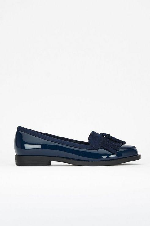 Navy Tassel Loafer
