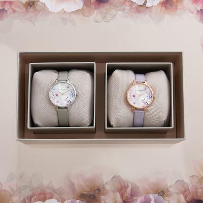 Olivia Burton Dual Watch Sunlight Floral Giftset loving the sales