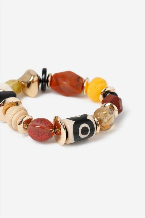 Orange Multi Bead Bracelet