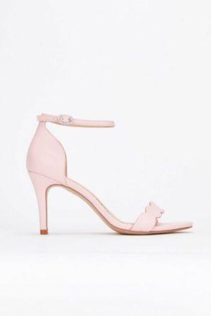 **Pale Pink Scalloped Sandal