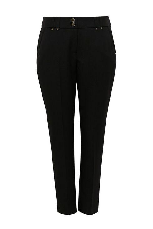 Petite Black Tailored Trouser
