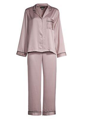 Purple Dove Feathers Two-Piece Satin Pajama Set loving the sales