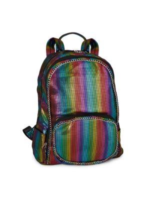 Rainbow Stripe Chain Backpack loving the sales
