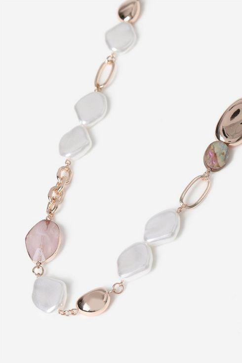 Rose Gold Pearl Rope Necklace