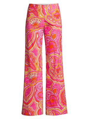 Rudi Paisley-Print Wide-Leg Pants loving the sales