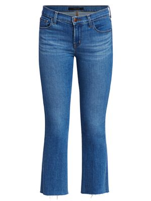 Selena Mid-Rise Crop Bootcut Jeans loving the sales