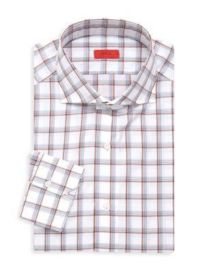 Slim Fit Tattersol Plaid Dress Shirt loving the sales