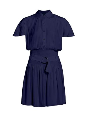 Stacey Belted Mini Shirt Dress loving the sales