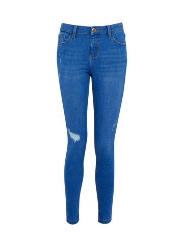 Womens Bright Blue Rip 'Darcy' Denim Jeans With Organic Cotton