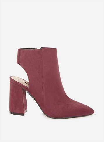 Womens Burgundy 'Arlena' Shoe Boots - Red