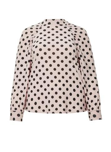 Womens **Dp Curve Blush Shoulder Top - Pink
