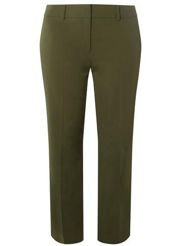 Womens Dp Curve Khaki Ankle Grazer Trousers