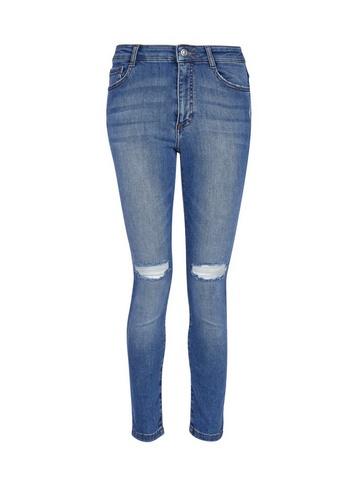 Womens Dp Petite Blue Light Wash 'Alex' Denim Jeans - Black