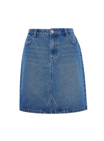 Womens Dp Tall Blue Denim Skirt