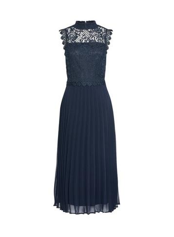 Womens Dp Tall Navy Lace Skater Dress - Blue