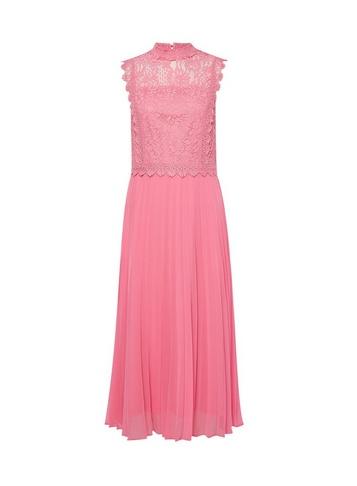 Womens Dp Tall Pink Lace Skater Dress