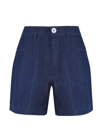Womens Indigo Bermuda Shorts - Blue