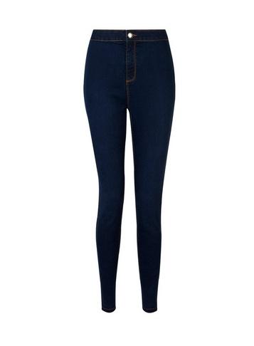 Womens Indigo 'Lyla' High Waisted Skinny Jeans - Blue