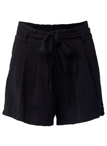 Womens Izabel London Black High Waist Shorts