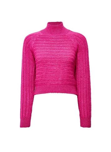 Womens Lola Skye Pink High Neck Chunky Jumper