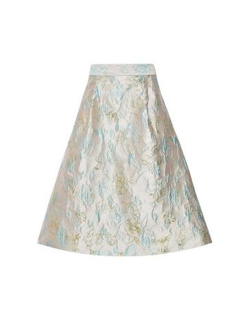 Womens Luxe Stone Jacquard Skirt - Grey