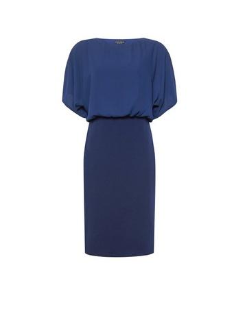 Womens Navy Cape Bodycon Dress - Blue
