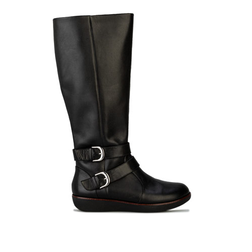Womens Noemi Double Buckle Knee High Boots loving the sales